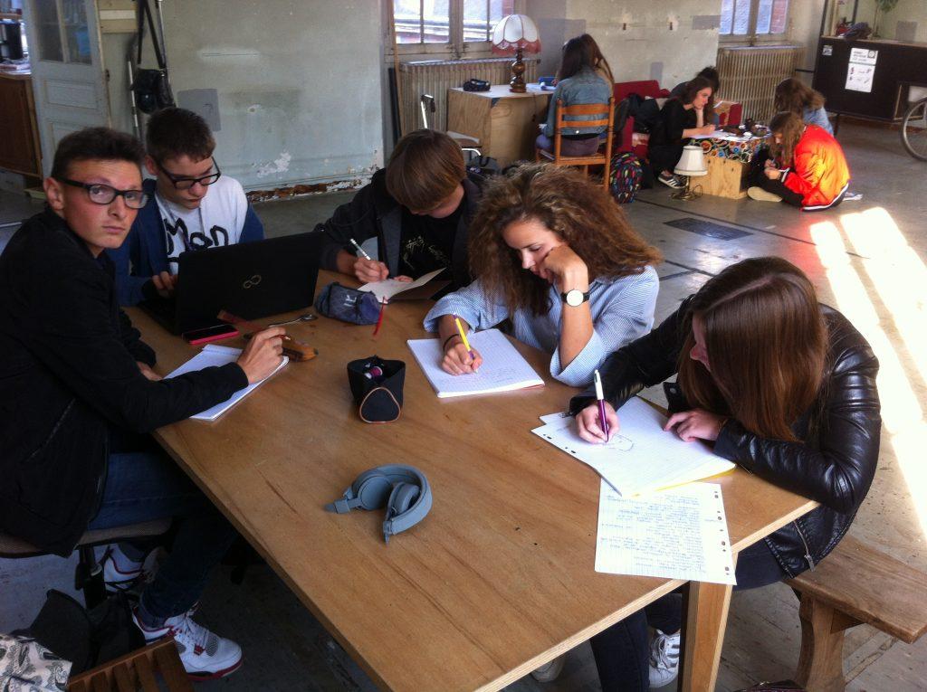 Travail d'écriture personnelle à l'Hôtel Pasteur