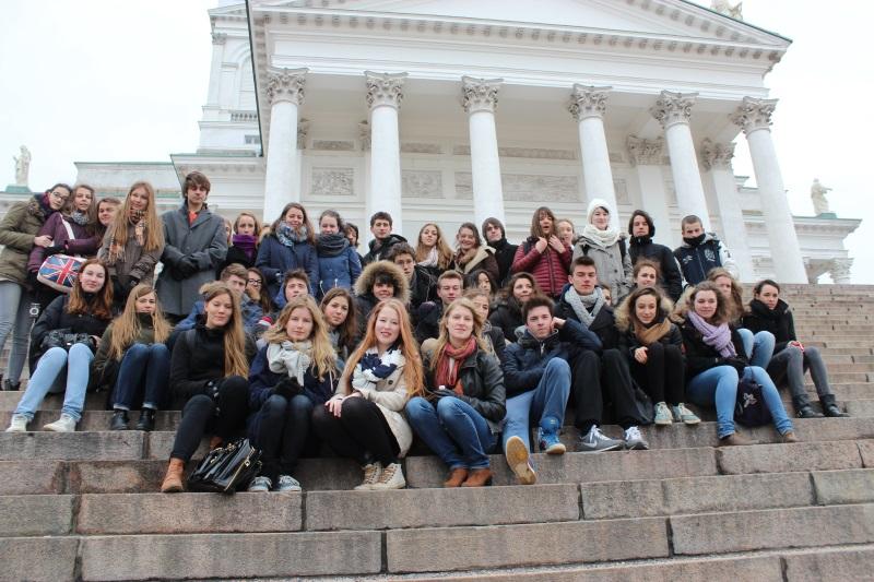 élèves finlandais et français à Helsinki 1